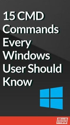 15 CMD Commands Every Windows User Should Know --- Microsoft has slowly but surely pushed the command line aside in the Windows interface. This is not without reason; it is an antiquated and mostly unnecessary tool from an era of text-based input. But many commands remain useful, and Windows 8 and 10 even added new features. #CommandPrompt #CMD #Windows #Windows10 #Tips