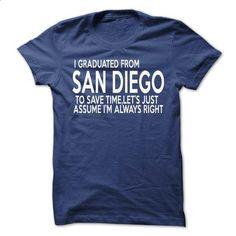 I Graduated From San Diego - #tshirt inspiration #estampadas sweatshirt. MORE INFO => https://www.sunfrog.com/States/I-Graduated-From-San-Diego.html?68278
