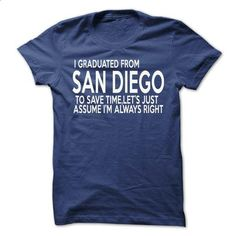 I Graduated From San Diego - #tshirt inspiration #estampadas sweatshirt. MORE INFO => https://www.sunfrog.com/States/I-Graduated-From-San-Diego.html?68278