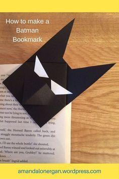 BATMAN BOOKMARK: Batty about Batman? Follow 8 easy steps to making your own superhero bookmark.