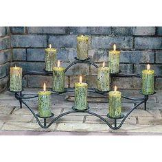 fireplace Candelabra ~~for sale~~~~  #wedding, centerpiece, home decor or gift idea.  ~~~~ www.CandelabraCenterpieces.info
