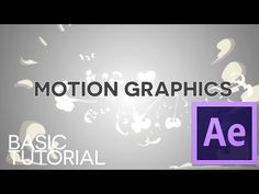 Motion Graphics - AFTER EFFECTS Basic Tutorial - This one was actually really helpful in figuring out how to make text move in and out smoothly.
