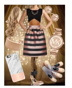 """""""Rose golden"""" by boopreski ❤ liked on Polyvore featuring Topshop, Boohoo, Jimmy Choo, Maison Margiela, Michael Kors, Charlotte Russe, Bloomingdale's and Casetify"""