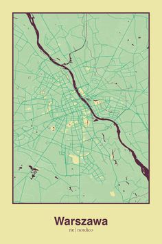 Warsaw, Poland Map Print