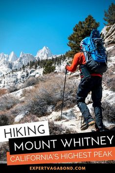 Hiking Mount Whitney: California's Highest Peak! The mountain has become one of the most popular hikes in the state — Here's everything you need to know before you visit! #California #Hike #MountWhitney #USA #adventure #Travel