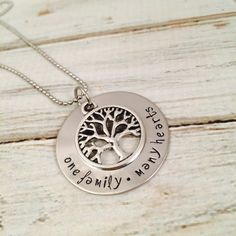 Personalized Washer Family Necklace  'One by FarrarCreations, $32.00