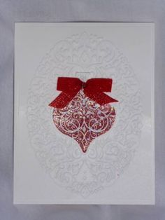 Cherry cobbler ornament by angelsparkly - Cards and Paper Crafts at Splitcoaststampers