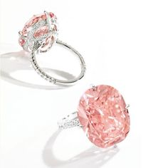 Magnificent Platinum, Fancy Intense Orangy Pink Diamond and Diamond Ring The cushion-cut Fancy Intense Orangy Pink diamond weighing carats, the mounting accented by round diamonds weighing carat, size Pink Diamond Ring, Diamond Solitaire Rings, Solitaire Engagement, Diamond Jewelry, Pink Diamond Engagement Ring, Green Diamond, Uncut Diamond, Diamond Pendant, Ring Verlobung