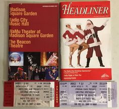 NYC Rockettes Christmas Spectacular Memorabilia Playbills, 75th Anniversary