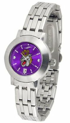 James Madison Dukes Dynasty AnoChrome Ladies Watch by SunTime. $92.11. Scratch Resist Face. Date Display. Stainless Steel Case. Elegant design for the modern woman who wants to show their James Madison Dukes spirit! The dial is presented in a sleek, stainless steel case and bracelet that rests fashionably yet comfortably across the wrist. Features a convenient date display, quartz accurate movement and a scratch resistant mineral crystal face.The AnoChrome dial option...