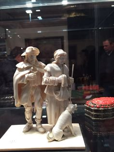 Superlative and prized Top quality european ivory carvings  -  signed - meji period - call  Danilo 0039 335 6815268