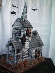 The Haunted Construction, miniature size. So Cute!