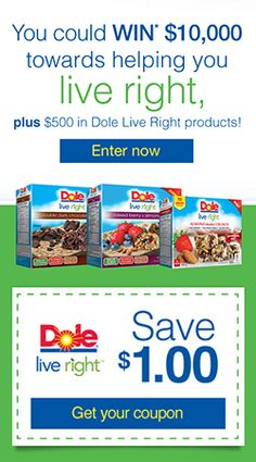 Win $10,000 from Dole   Coupon