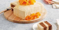 Top this sensational sticky date layer cake with candied mandarins for the perfect finish. Recipe by Curtis Stone.