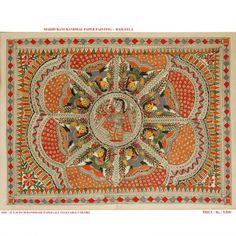 Rasleela Painting - Madhubani : love tehe borders and the filling Indian Traditional Paintings, Indian Paintings, Traditional Art, Fish Paintings, Madhubani Art, Madhubani Painting, Mandala Design, Mandala Art, Indian Folk Art