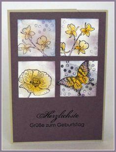 Lüftchen Stempelstudio Bergedorf: Karte Nr 1 vom WS Freitag, sponge daubers coloring, coloriert mit Fingerschwämmchen