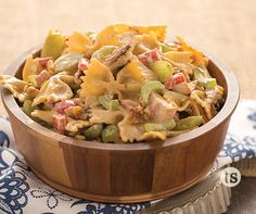 Summertime and pasta salad go hand-in-hand. If you're looking for a delicious new recipe, give this Chicken Bowtie Salad a try.