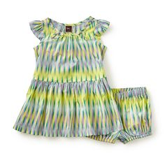 Rosita Baby Dress | We named this dress after Rosita Missoni, one of the names behind the iconic Missoni fashion brand. This colorful striped pattern is inspired by their aesthetic.