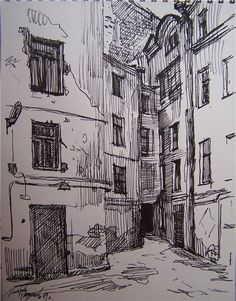Architectural sketches 177188566580975825 - 28 Ideas landscaping sketch mixed media Source by llorem Landscape Sketch, Landscape Drawings, Landscape Paintings, Collage Landscape, Urban Landscape, Pencil Art Drawings, Drawing Sketches, Cool Drawings, Cityscape Drawing