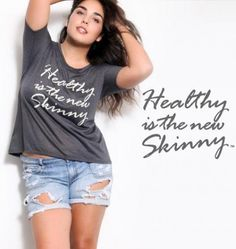 This ad acknowledges the that long-lived misconception that being skinny is the equivalent of being healthy or that being curvy is the equivalent of being unhealthy is invalid. Being skinny should not be a priority as much being healthy should be. Rachel Weisz, Body Love, Loving Your Body, Healthy Body Images, Natural Models, Positive Body Image, Skinny, Plus Size Women, Plus Size Fashion