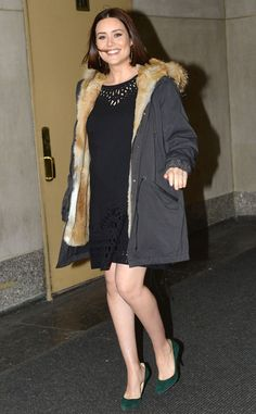 Megan Boone from The Big Picture: Today's Hot Pics Say cheese! The pregnant Blacklist star visits the Today show in NYC. James Spader, Megan Elizabeth, Megan Boone, Shows In Nyc, The Blacklist, Today Show, Big Picture, Hottest Photos, Tv Series