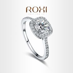 Encontre mais Anéis Informações sobre ROXI Exquisite Anéis de casamento da platina e ródio com AAA zircão , frete grátis , Micro  Inserida Jewelry101009438 ,, de alta qualidade jóia do anel, ródio China Fornecedores, Barato ródio chapeado cz anéis de Amanda Jewelry(Min order 10usd) em Aliexpress.com