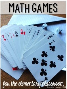 Love to Learn: Math Games! Use cards for math manipulatives and application of math concepts.
