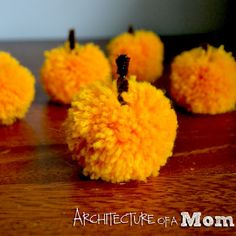 Architecture of a Mom: Fall Tablescape with Pompom Pumpkins