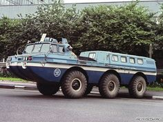 ЗиЛ-49061 (ZIL-49061), amphibious 6x6 soviet truck, 1975.  A variant was used to rescue cosmonauts after the landing. via Замечательные автомобили СССР - Страница 8 - Форум