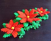 Large LEGO Poinsettia Christmas Decoration Set