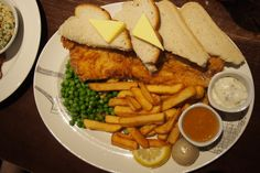 Traditional British food - Fish and Chips, London, United Kingdom London United, Fish And Chips, Baker Street, United Kingdom, British, England, The Unit, Traditional, Chicken