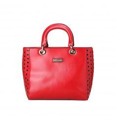 PIERRE CARDIN Red Handbag - MyaBelle - 1 Red Handbag, Pierre Cardin, Bags, Collection, Design, Women, Red Tote Bag, Handbags