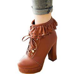 Partiss Damen Suess High-top Boots Casual Schuhen Lolita Pumps Herbst Winter Platform Hochzeit Tanzenball Maskerade Pumps Kaeltschutz Lace up Zipper Winterstiefel Winter Shoes Partiss http://www.amazon.de/dp/B019OORX5M/ref=cm_sw_r_pi_dp_0xoGwb1DMJ0BK