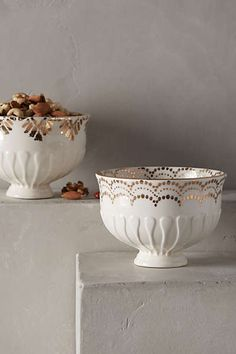 Anthropologie Europe - Gilded Thistle Nut Bowl