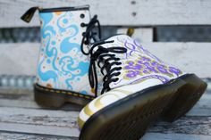 DIY DOC'S: Arrache Toi En Oeil customised our 1460 White boot.