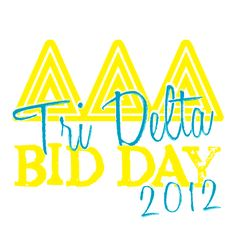 Tri Delta, Sorority, Bid Day Design, T-Shirt *All designs can be customized for your organization or chapter's needs!