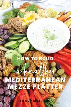 Entertaining doesn't have to be stressful or take hours in the kitchen to impress and satisfy your guests! With these components and steps in mind, building a gorgeous and healthy Mediterranean Mezze Platter will be easier than ever. Healthy Dips, Healthy Recipes, Whole Food Recipes, Snack Recipes, Recipe Please, Plant Based Recipes, Meal Planning, Nutrition, Asmr