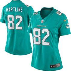 Women's Miami Dolphins Brian Hartline Nike Aqua Limited Jersey