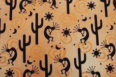 Desert Song Kokopelli Fabric Davids by Loriscountryfabrics on Etsy, $7.95