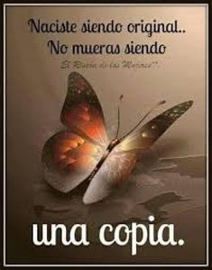 Naciste siendo original... no mueras siendo una copia Good Day Quotes, Quote Of The Day, Love Always, Love You, Strong Words, Motivational Phrases, Romantic Things, Cartoon Pics, Spanish Quotes