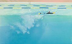 范揚宗_泳池系列-漂浮在充滿陽光折射的泳池裡_58x36 cm_壓克力 畫布_2013   Flickr - 相片分享!