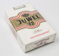 """DDR Museum - Museum: Objektdatenbank - """"Zigaretten Juwel 72"""" Copyright: DDR Museum, Berlin. Eine kommerzielle Nutzung des Bildes ist nicht erlaubt, but feel free to repin it!"""