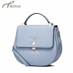Nucelle Women Split Leather Handbag Fashion Ladies Saddle Leather Tote Messenger Purse Female Bronzing Corssbody Bags NZ4934 #Affiliate