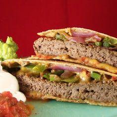 """Craving Comfort: Quesadilla Burgers. (including a """"lite"""" version!)"""
