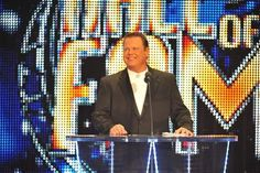 """Jerry """"The King"""" Lawler attends the 2011 WWE Hall Of Fame Induction Ceremony at the Philips Arena on April 2011 in Atlanta, Georgia. Get premium, high resolution news photos at Getty Images Jerry The King Lawler, Philips Arena, Paige Wwe, Paying Ads, Sites Like Youtube, Video Site, Magazine Ads, Still Image, Billboard"""