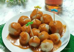 Cilok Kenyal Lembut Indonesian Desserts, Indonesian Cuisine, Breakfast Recipes, Dessert Recipes, Malay Food, Bakery, Food And Drink, Appetizers, Cooking Recipes