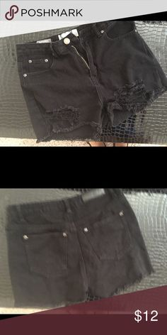 Black denim shorts Never worn Boohoo Shorts Jean Shorts