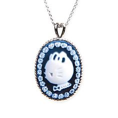 Hello Kitty Agate Cameo pendant necklace Jewelry from Japan SANRIO NEW F/S