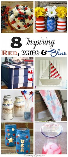 8 Inspiring Red, White and Blue Goodies - Domestically Speaking
