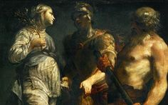 Golden Bough from Roman mythology 'found in Italy' : Aeneas holds the Golden Bough in the painting Aeneas, the Sibyl and Charon by Giuseppe Maria Crespi